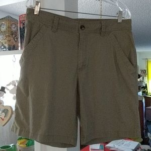 COLUMBIA Linen Blend Khaki Shorts Men's Sz 34